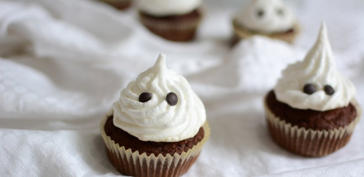 Food: Geister-Cupcakes mit Maroni