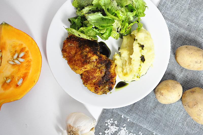 Rezept für vegane Kürbis-Kichererbsen-Laibchen | we love handmade