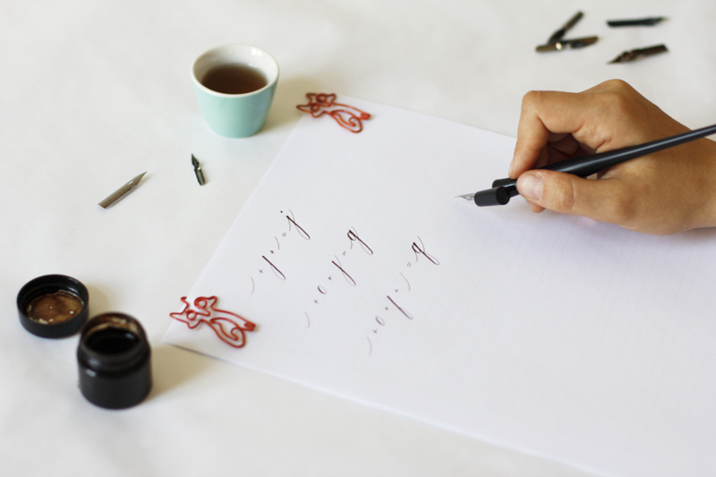 Kalligraphie: Grundübung   we love handmade