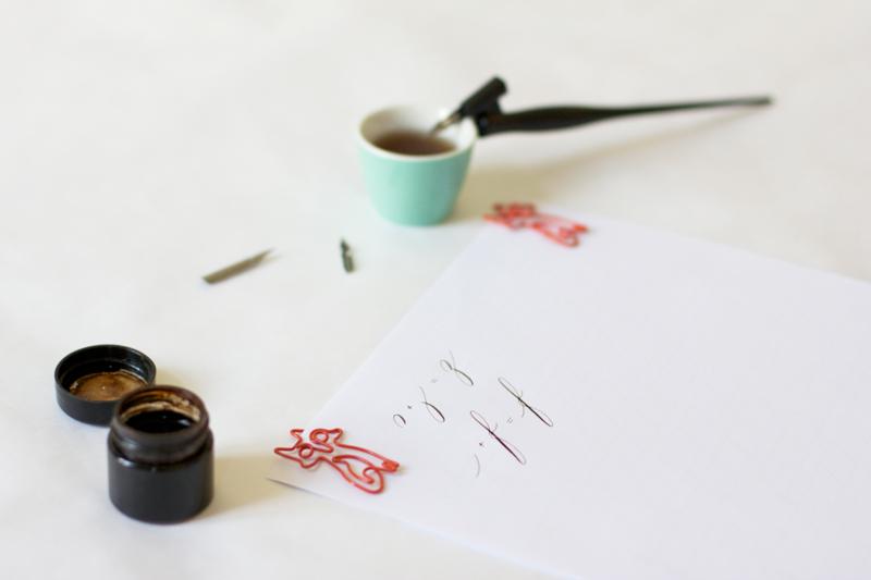 Kalligraphie: Grundübung - f | we love handmade
