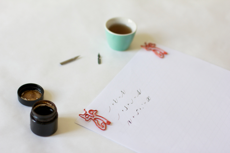 Kalligraphie: Grundübung - r, s, x | we love handmade