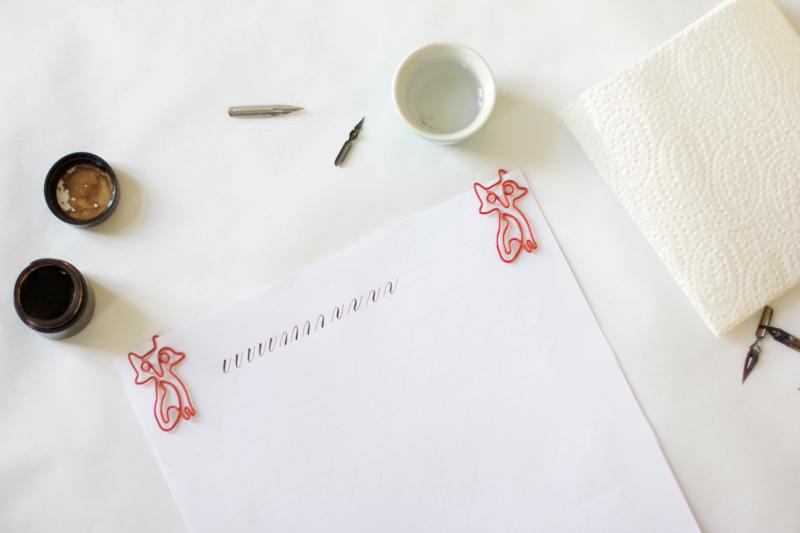 Kalligraphie: Grundübung | we love handmade