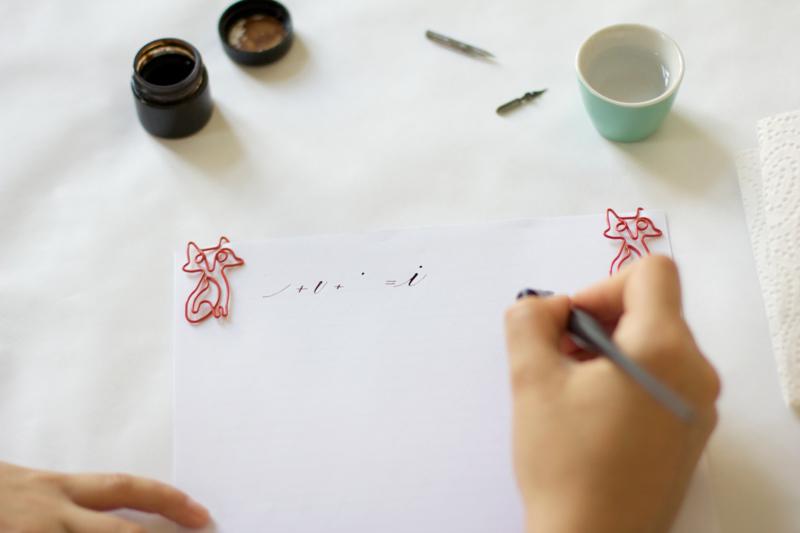 Kalligraphie: Grundübung - i | we love handmade