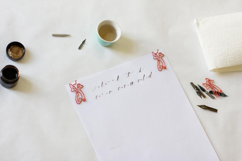 Kalligraphie: Grundübung - t, o, a | we love handmade