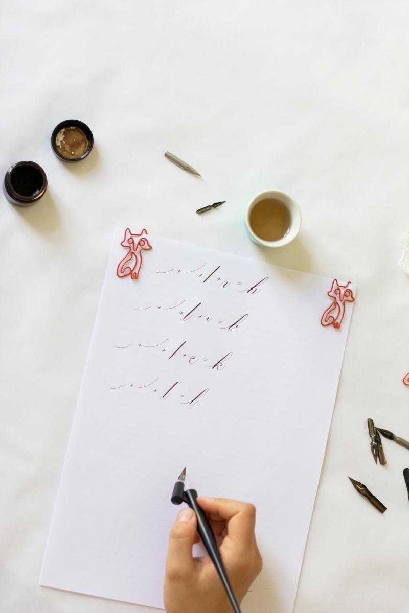 Kalligraphie: Grundübung - Oberlängen | we love handmade