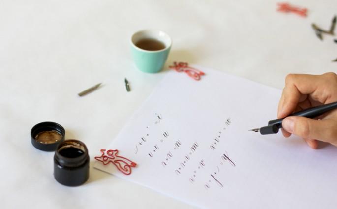 Kalligraphie: Grundübung - p | we love handmade