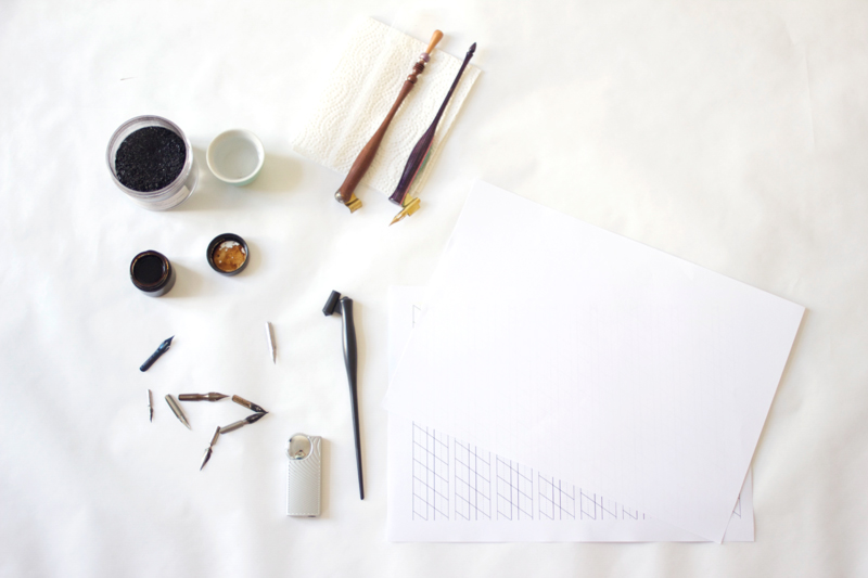 Übungsmaterialien für kalligraphie | we love handmade