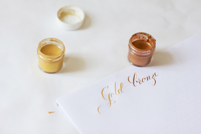 Kalligraphie Teil 3: Gold | we love handmade