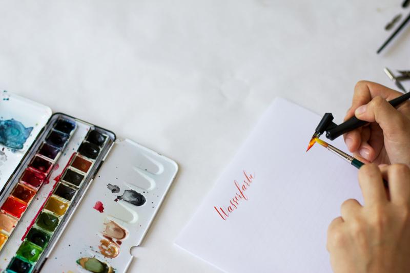 Kalligraphie Teil 3: Wasserfarben, Verläufe | we love handmade