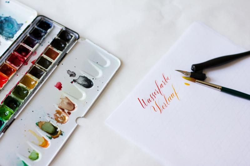 Kalligraphie Teil 3: Wasserfarben | we love handmade