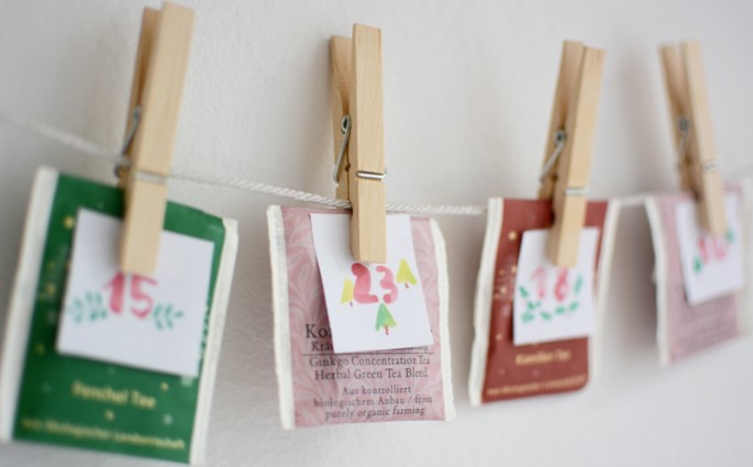 DIY: Tee-Adventkalender | we love handmade