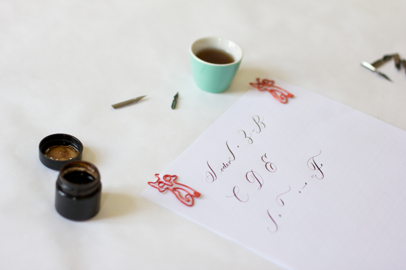 DIY Kalligraphie Anleitung Großbuchstaben | we love handmade