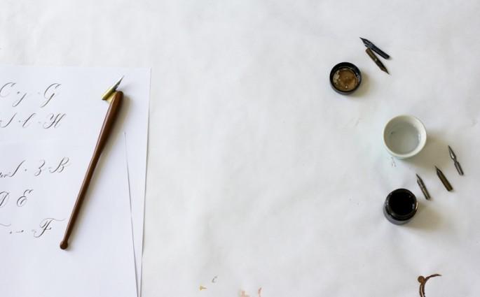 we love workshop Kalligrafie Flyer