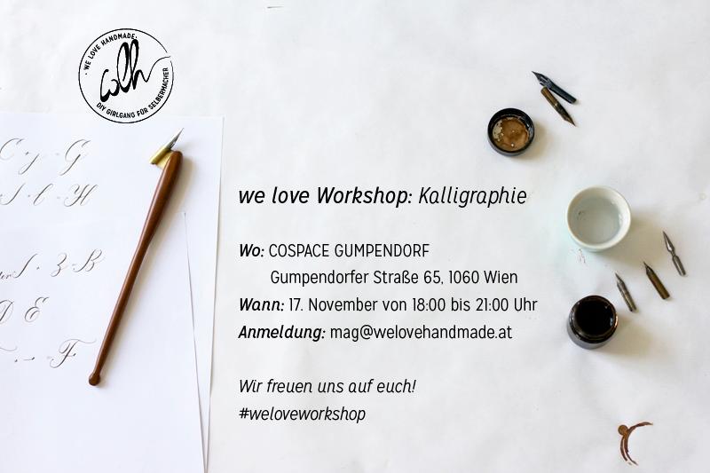 we-love-workshop Kalligrafie-Flyer |we love handmade