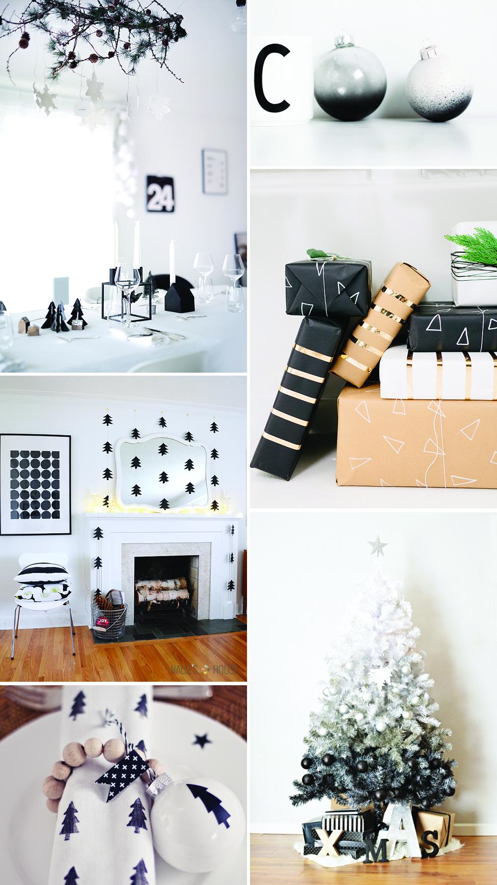 Christmas-Inspiration black-white | we love handmade