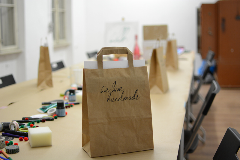 Geschenkpapier-Workshop im Maker Austria | we love handmade