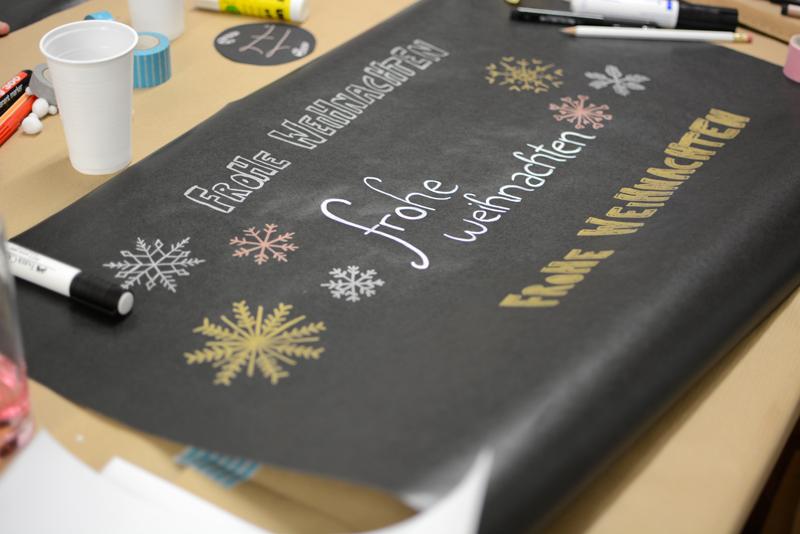 Geschenkpapier-Workshop. Zeichnen und schreiben | we love handmade