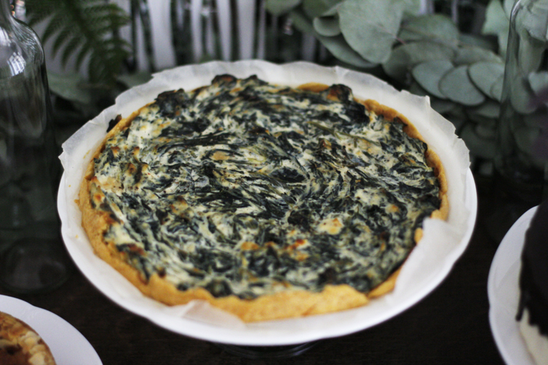 Birthday-Table: Spinat-Quiche | we love handmade