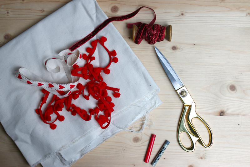 weihnachtssack | material | welovehandmade
