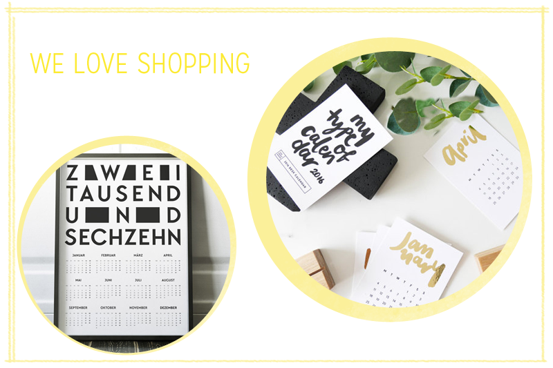 Kalender 2016 | we love handmade