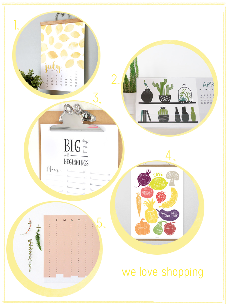 we love Shopping: Kalender 2016 | we love handmade