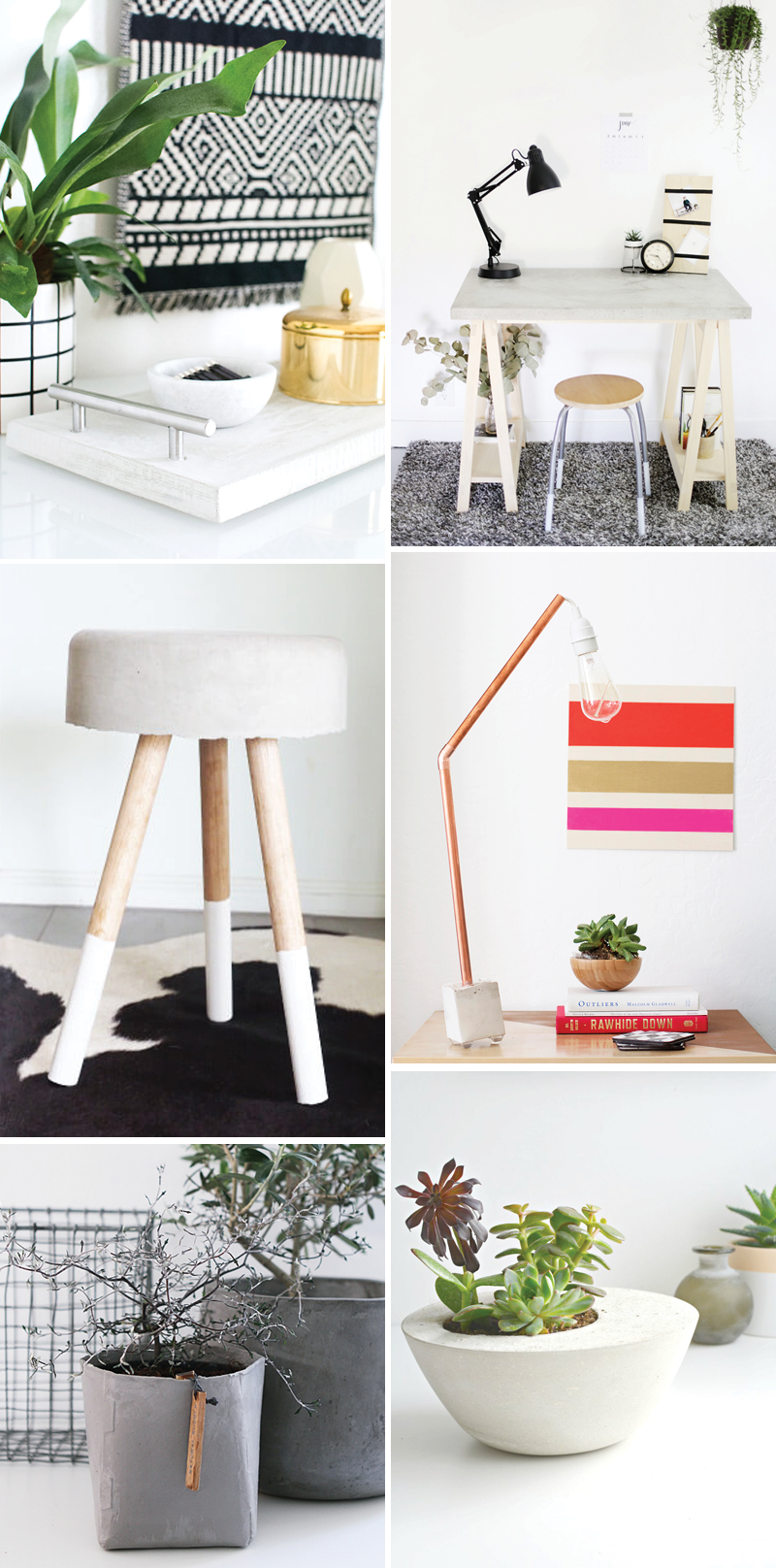 Concrete-DIYs Inspiration | we love handmade