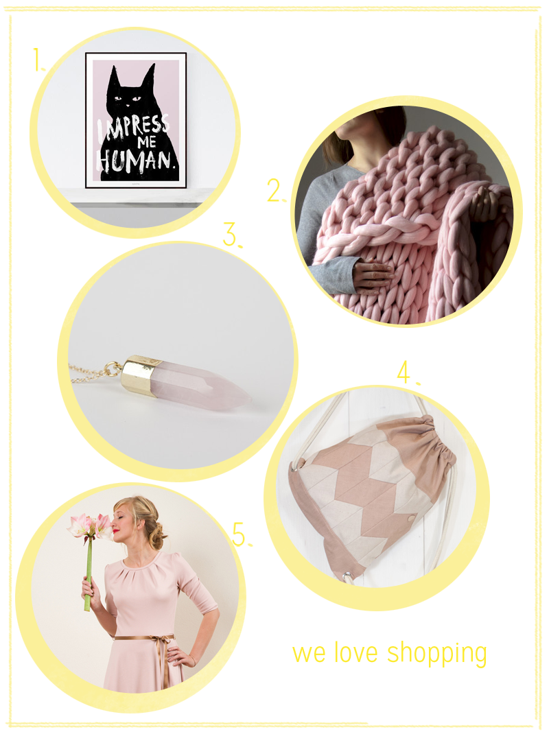 we love shopping: Trendfarbe Rose Quartz | we love handmade