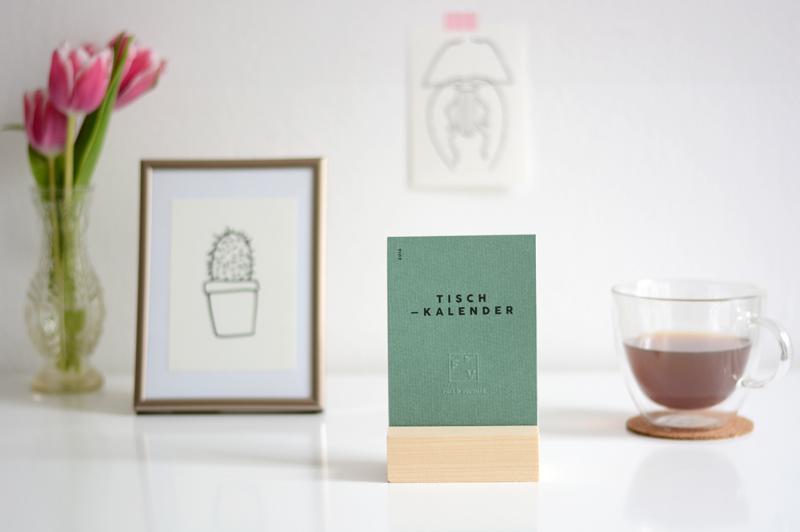 Falz und Vorsatz. Tischkalender. |we love handmade