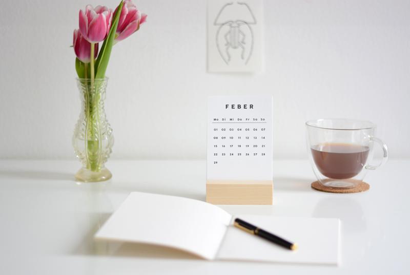 Falz und Vorsatz. Kalender und Heft. |we love handmade
