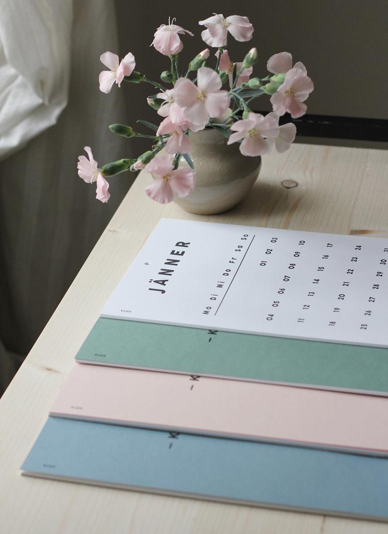 Foto von Falz und Vorsatz Kalender |we love handmade