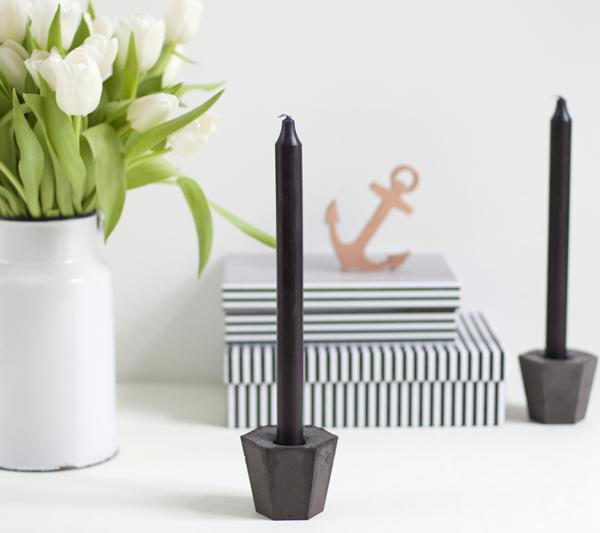 DIY: Zement-Kerzenhalter mit Pigmenten | we love handmade