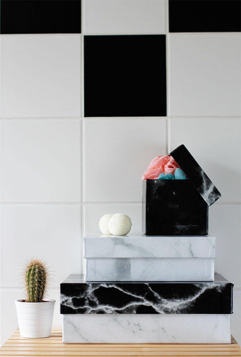 Marble-Boxen für das Bad | we love handmade