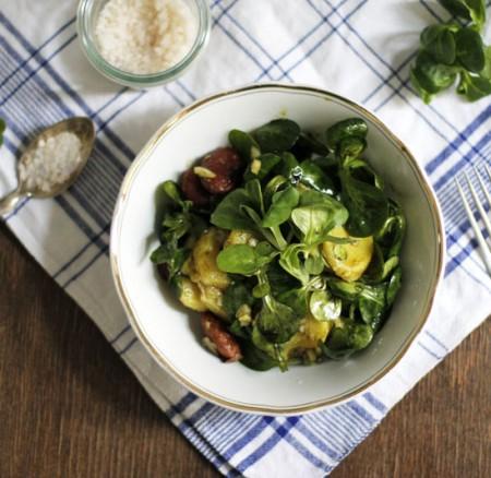Food: Eat Seasonal – Steirischer Erdäpfel-Vogerlsalat mit Käferbohnen