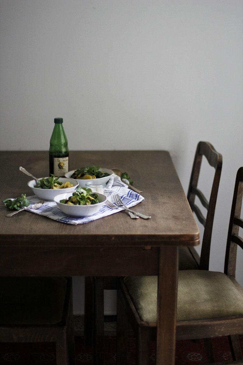 Rezept: Erdäpfel-Vogerlsalat mit Käferbohnen | we love handmade