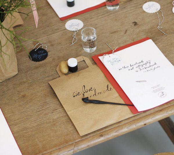 Kalligraphie Workshop mit Tintenfuchs