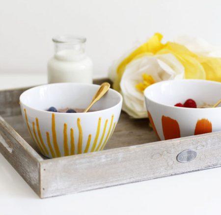 DIY: Bemalte Müslischüsseln