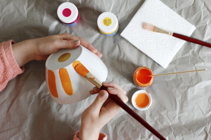 Schüssel mit Pinselstrichen |we love handmade