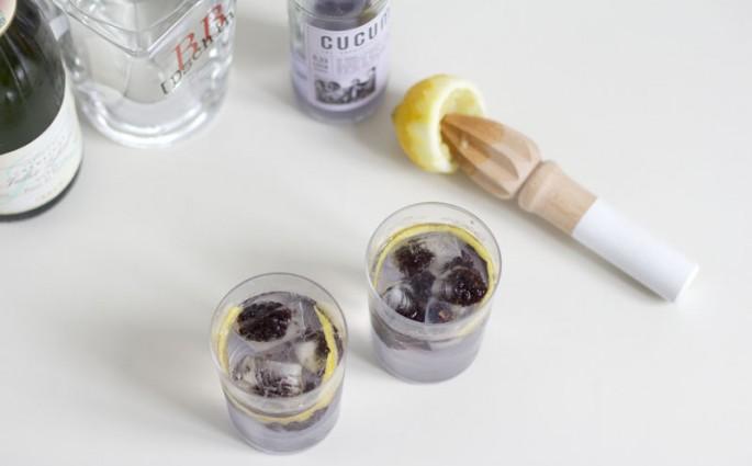 Lavendel Champagner Gin Gocktail 4