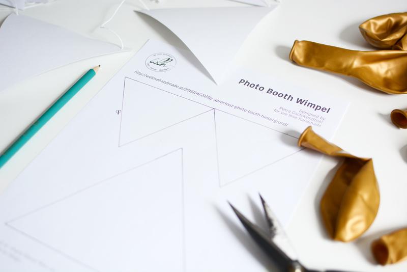 Photo-Booth-Wimpel-Vorlage |we love handmade