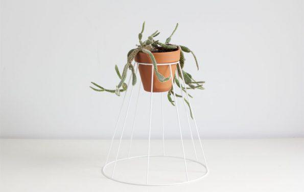 DIY: Blumenständer aus Lampenschirm   we love handmade