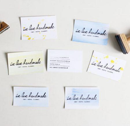 DIY: Schnelle Visitenkarten