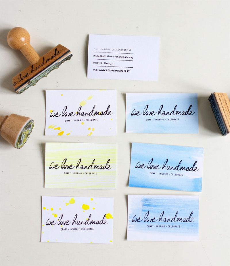 bestempelte visitenkarten fertig |we love handmade