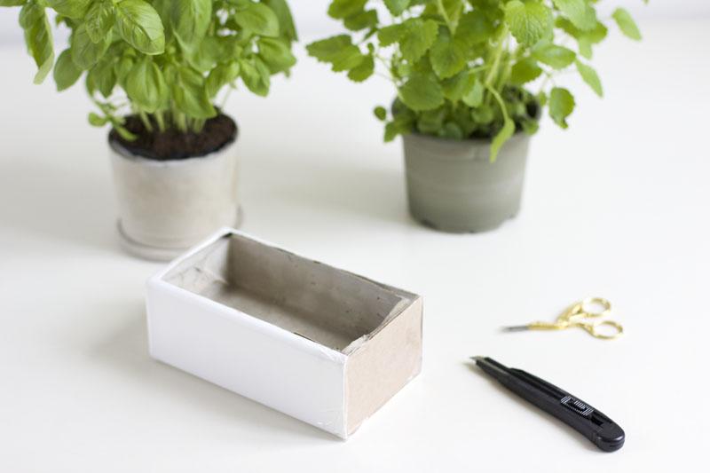Zementtopf für Kräuter |we love handmade