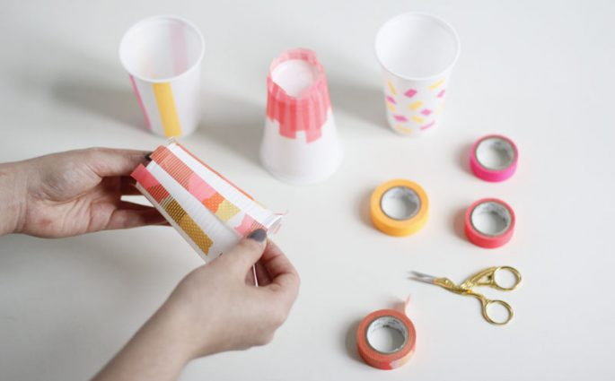 Picknick Becher bekleben | we love handmade