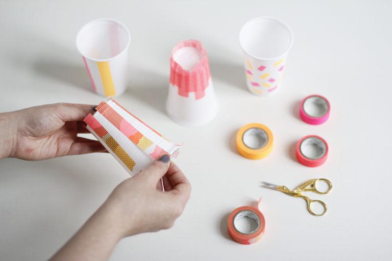 Picknick Becher bekleben |we love handmade