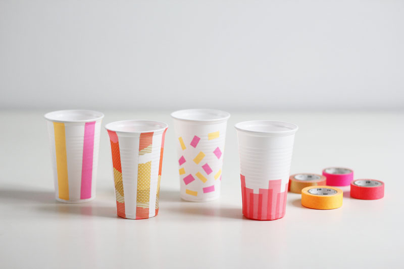 Picknick-Becher mit Washi Tape |we love handmade