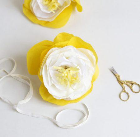 DIY: Große Blumen aus Seidenpapier