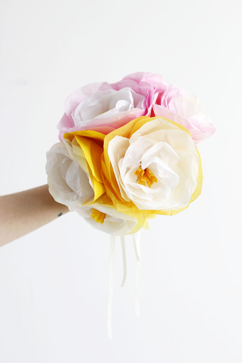 papierblumen bunt | we love handmade