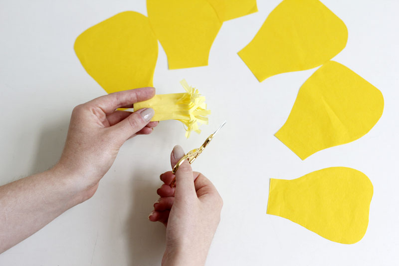papierblumen Blütenstempel | we love handmade