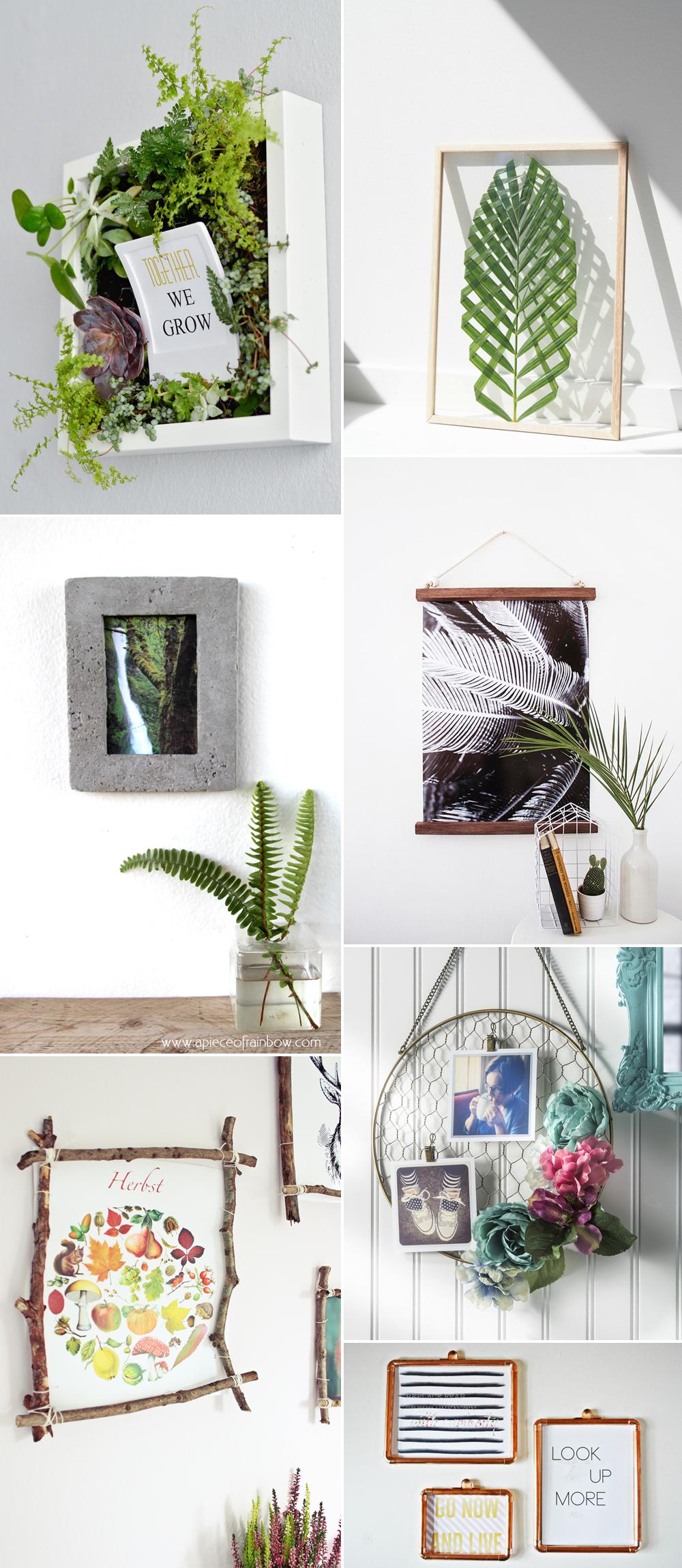 Bilderrahmen-DIYs | we love handmade